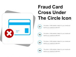 Fraud Card Cross Under The Circle Icon