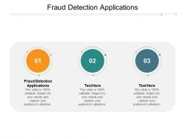 Fraud Detection Applications Ppt Powerpoint Presentation Infographics Aids Cpb