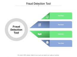 Fraud Detection Tool Ppt Powerpoint Presentation Layouts Icon Cpb