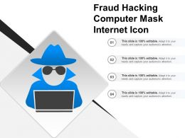 Fraud Hacking Computer Mask Internet Icon