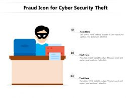 Fraud Icon For Cyber Security Theft