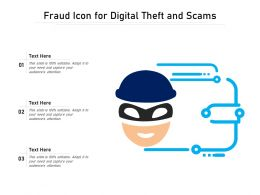 Fraud Icon For Digital Theft And Scams