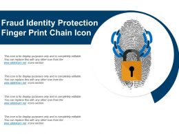 Fraud Identity Protection Finger Print Chain Icon