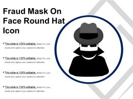 Fraud Mask On Face Round Hat Icon