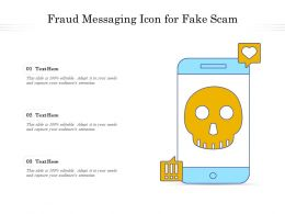 Fraud Messaging Icon For Fake Scam