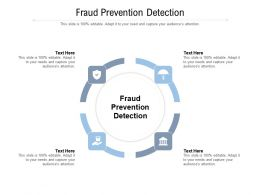 Fraud Prevention Detection Ppt Powerpoint Presentation Summary Microsoft Cpb