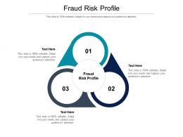 Fraud Risk Profile Ppt Powerpoint Presentation Infographic Template Professional Cpb