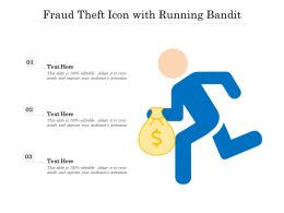 Fraud Theft Icon With Running Bandit