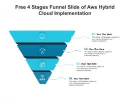 Free 4 Stages Funnel Slide Of Aws Hybrid Cloud Implementation Infographic Template