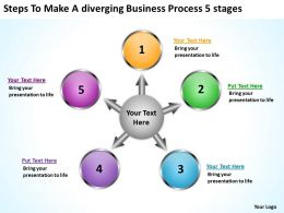 free business powerpoint templates process 5 stages Arrows Network Software Slides