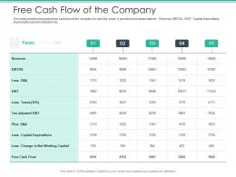 Free Cash Flow Of The Company Spot Market Ppt Background