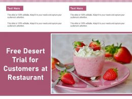 Free Desert Trial For Customers At Restaurant