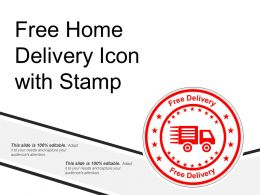Free Home Delivery Icon With Stamp