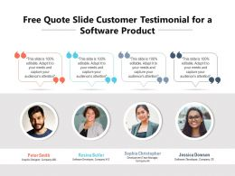 Free Quote Slide Customer Testimonial For A Software Product