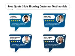 Free Quote Slide Showing Customer Testimonials
