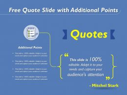 Free Quote Slide With Additional Points
