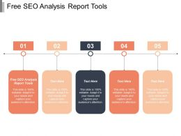 Free Seo Analysis Report Tools Ppt Powerpoint Presentation Portfolio Samples Cpb