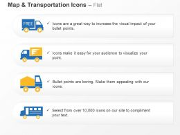 Free Shipping Transport Truck Ppt Icons Graphics