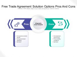 Free Trade Agreement Solution Options Pros And Cons