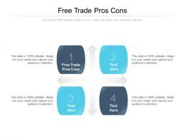 Free Trade Pros Cons Ppt Powerpoint Presentation Show Background Designs Cpb