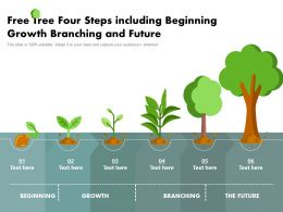 Free Tree Four Steps Including Beginning Growth Branching And Future