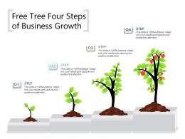 Free Tree Four Steps Of Business Growth