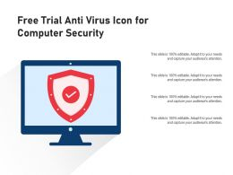 Free Trial Anti Virus Icon For Computer Security
