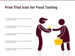 Free Trial Icon For Food Tasting