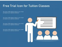 Free Trial Icon For Tuition Classes