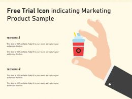 Free Trial Icon Indicating Marketing Product Sample