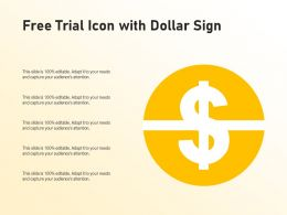 Free Trial Icon With Dollar Sign