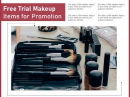 Free Trial Makeup Items For Promotion