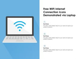 Free WIFI Internet Connection Icons Demonstrated Via Laptop