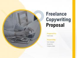 Freelance Copywriting Proposal Powerpoint Presentation Slides