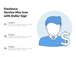 Freelance Service Hire Icon With Dollar Sign