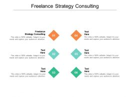 Freelance Strategy Consulting Ppt Powerpoint Presentation Inspiration Icons Cpb