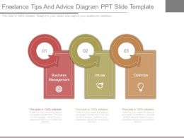 Freelance Tips And Advice Diagram Ppt Slide Template