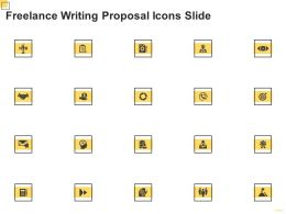 Freelance Writing Proposal Icons Slide Ppt Powerpoint Presentation Outline Show