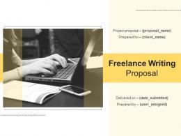 Freelance Writing Proposal Powerpoint Presentation Slides