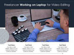 Freelancer Working On Laptop For Video Editing