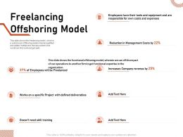 Freelancing Offshoring Model Defined Deliverables Ppt Powerpoint Slides