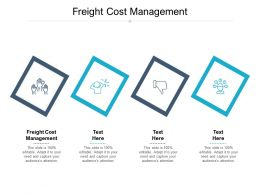 Freight Cost Management Ppt Powerpoint Presentation Infographic Template Example Introduction Cpb