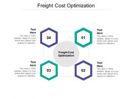 Freight Cost Optimization Ppt Powerpoint Presentation Outline Layouts Cpb