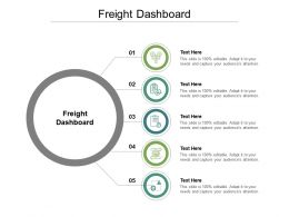 Freight Dashboard Ppt Powerpoint Presentation Pictures Gallery Cpb
