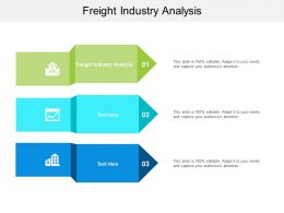 Freight Industry Analysis Ppt Powerpoint Presentation Ideas Model Cpb