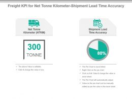 Freight Kpi For Net Tonne Kilometer Shipment Lead Time Accuracy Powerpoint Slide