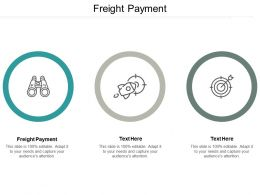 Freight Payment Ppt Powerpoint Presentation Infographic Template Influencers Cpb