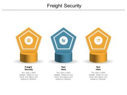 Freight Security Ppt Powerpoint Presentation Pictures Templates Cpb