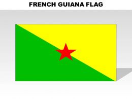 French Guiana Country Powerpoint Flags