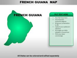 French Guiana Country PowerPoint Maps